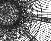 Amaze Me, Paris Photograph, Black and White Photograph, Fine Art Print, Square Photograph, Galeries Lafayette, Stained Glass