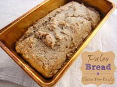 Here's a terrific gluten-free, grain-free & paleo loaf bread recipe that only requires a handful of ingredients & is super simple to make. No rising or kneading.