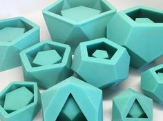 XL Dodecahedron Planter Mold  Silicone  Geometric от Edgehill3D