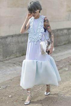 Street Snap. I still love her & her dress...