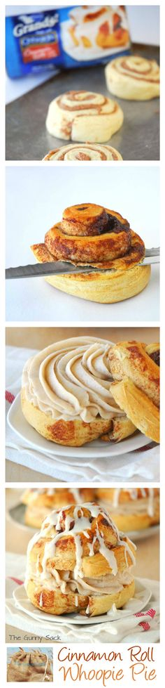 Cinnamon Roll Whoopie Pie with Cinnamon Cream Cheese Buttercream Frosting