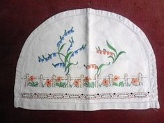 Vintage Embroidered Tea Cosy Cover