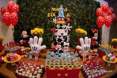 aniversário da maria eduarda - festa turma do mickey