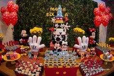 Resultado de imagem para mesa de aniversario do mickey