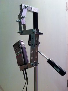 My steadicam design attached to camera stand.