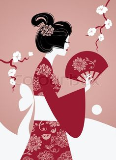 Stock vector of 'Japan woman'