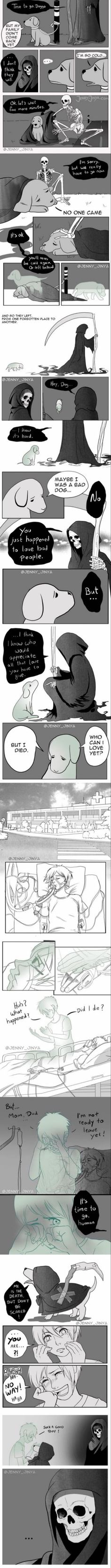 After life doggo Please consider not being an asshole and actuall. - After life doggo Please consider not being an asshole and actually take care of the p - Sweet Stories, Cute Stories, Comics Story, Faith In Humanity Restored, Short Comics, After Life, 9gag Funny, Memes Humor, Funny Comics