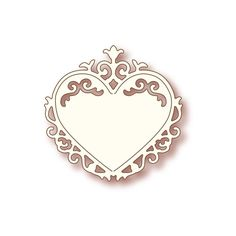 Wild Rose Studio Specialty Die - Ornate Heart -Add elegance and charm to your projects with these metal dies. Create gorgeous diecuts to embellish your scrapbook layouts, handmade cards, and off the page or mixed media projects.  The Ornate Heart design is the perfect choice when creating love, wedding, or Valentine's Day projects.  Made in the USA from 100% steel with a non-stick coating. Compatible with most die-cutting systems.  Scraps of Darkness and Scraps of Elegance