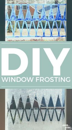 DIY Window Frosting