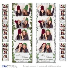 Christmas in the Country Photobooth Layout, Photobooth Template, Photo Booth Design, Photo Booths, Christmas Photo Booth, Christmas Tree Branches, Traditional Christmas Tree, Winter Magic, Postcard Size