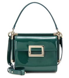 mytheresa.com - Miss Viv' Carré Mini patent leather shoulder bag - Luxury Fashion for Women / Designer clothing, shoes, bags