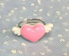 Chubby heart with small wings in Pink x White from Pastel Skies - Lolita Desu