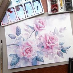 #roses #rose #watercolor #my_Mystery