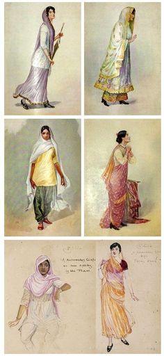 Women of India 1920 MV Dhurandhar