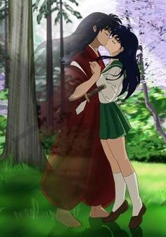 inuyasha in human form with kagome
