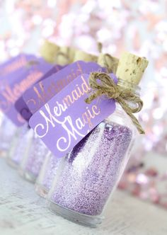 Mermaid Party Favor  Mermaid Birthday Party by TheSeaGlassSeahorse