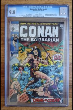 VINTAGE: 1st APP MARVEL's CONAN THE BARBARIAN #1 OCT 1970 HIGHEST GRADED COPY CGC 9.8 SELLS @ AUCTION FOR $4,600 CLICK ON THE PHOTO TO FOLLOW ME ON TWITTER FOR DAILY UPDATES & TRENDS ON ALL THINGS COLLECTIBLE!