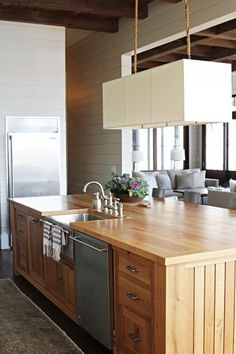wood and paneling in modern style
