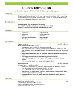 Picc Nurse Sample Resume Health Care Resume Templates  Images Of To View More Of Healthcare .