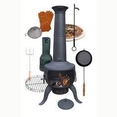 Gardeco Tia Bronze Chiminea Bundle is fantastic value for money.