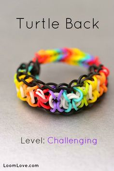 turtle back rainbow loom bracelet tutorial fun looking braclet