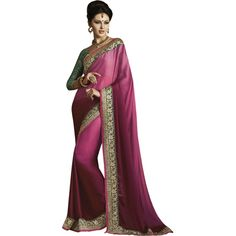 Buy Indian Women Pink Satin And Chiffon Saree by undefined, on Paytm, Price: Rs.2199?utm_medium=pintrest