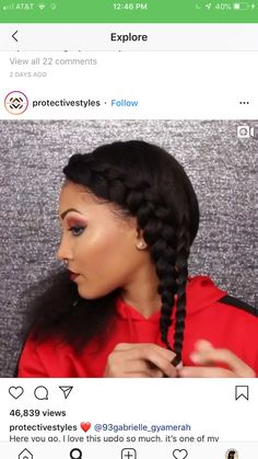 85 Box Braids Hairstyles for Black Women - Hairstyles Trends Box Braids Hairstyles, Protective Hairstyles, Protective Styles, Summer Hairstyles, Natural Hair Updo, Natural Hair Styles, Pelo Afro, Braided Hairstyles For Black Women, Natural Hair Inspiration