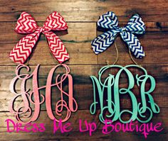 Rear View Mirror Monogram Charms. Car by DressMeUpBoutiqueNC Car Monogram, Monogram Gifts, Car Rear View Mirror, Day Wishes, Birthday Wishlist, Vinyls, Crafts To Do, Car Accessories, Gift Guide