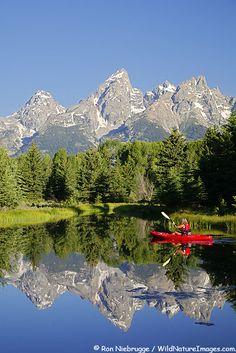 Kayaking in Grand Teton National Park, Wyoming