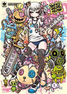 ✝☮✿★ Anime Girl Illustration ✝☯★☮
