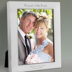 Engraved Parents of the Bride Silver Photo Frame - 7x5