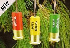 Camo Celebrations  - Shotgun Shell Ornaments Set of 3, $6.75 (http://www.camocelebrations.com/shotgun-shell-ornaments-set-of-3/)