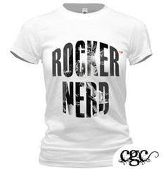 """ROCKER NERD"" Persona Tee  SEXY NERD Collection   Designed by Shannon Evans  www.citygirlcreates.com  January 2012 #SEXYNERD    contact @ citygirlcreates@gmail.com"