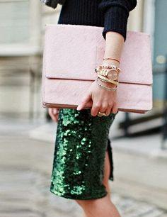 Emerald sparkles.