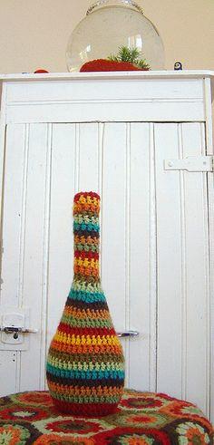 crocheted vase