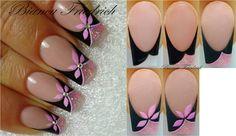 Nail art by Bianca F. Spirit Finger, Flower Nail Art, Stylish Nails, Creative Nails, Nail Tutorials, French Nails, Nail Arts, Diy Nails, Nails Inspiration