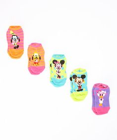 Look what I found on #zulily! Mickey Nerds No-Show Socks Set by Moret Kids #zulilyfinds