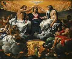 The Coronation of the Virgin, after 1595 by Annibale Carracci (Italian, Bolognese, 1560–1609) Italy.