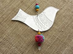 Hanging Bird Decoration Bohemian Hippie Home Decor by FoilingStar, $26.00