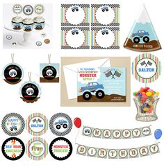 monster truck printables OK