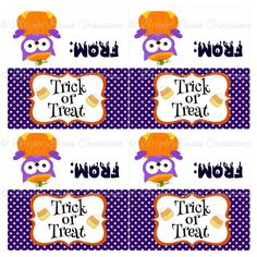 Instant download Halloween Treat Bag by BrightSwanCreations