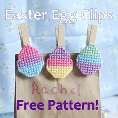 Free Plastic Canvas Pattern, Easter Egg Clip, 1/3
