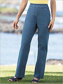 Slimtacular® Denim Pull-On Pants