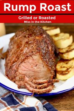 Take your Sunday roast beef dinner to the next level with this delicious Rump Roast. It's a tender, flavorful and delicious main course for any occasion. This simple recipe can be grilled or roasted and is seasoned with our homemade beef rub. Cooking A Rump Roast, Bbq Roast Beef, Rump Roast Recipes, Leftover Roast Beef, Roast Beef Dinner, Recipe For Pot Roast In The Oven, Roast On The Grill, Grilled Roast Beef, Sunday Roast Dinner