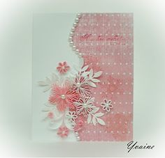 Quilled card (pink)