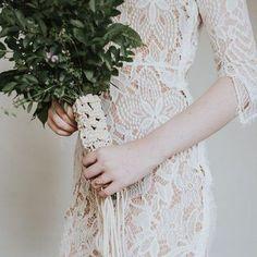Bohemian Bride Macrame Wedding Bouquet Wrap by HeirloomAndBloomCo Boho Wedding Dress, Wedding Bouquets, Wedding Dresses, Boho Gown, Chic Wedding, Lace Wedding, Boho Chic, Shabby Chic, Bouquet Wrap