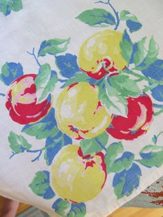 Vintage 1940's Fruit Fabric