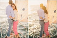 This cute couple decided to incorporate one of their favorite activities into an engagement session, and this nautical engagement on a boat is perfect! Engagement Outfits, Engagement Pictures, Engagement Shoots, Nautical Engagement, Winter Engagement, Couple Photography, Engagement Photography, Ibiza, Yacht Wedding