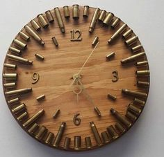 Bullet casings clock #bulletjewelry