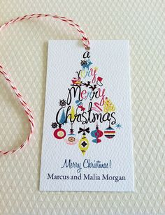 Christmas Gift Tags Personalized Holiday Tags Gift by PikakePress